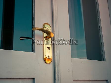 vintage door handle closeup