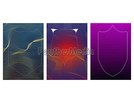 abstract background with dynamic waves and