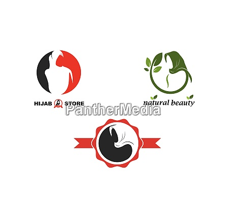 hijab woman logo vector culture of