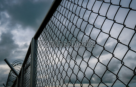 military zone mesh fence prison security