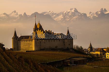 castle aigle vaud swiss