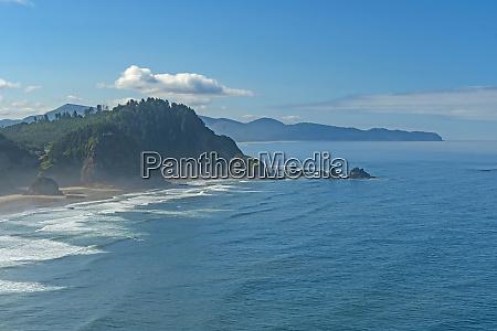 morning haze on a rocky coast