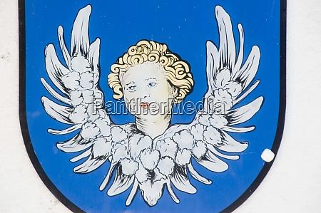 angel illustration on blue background