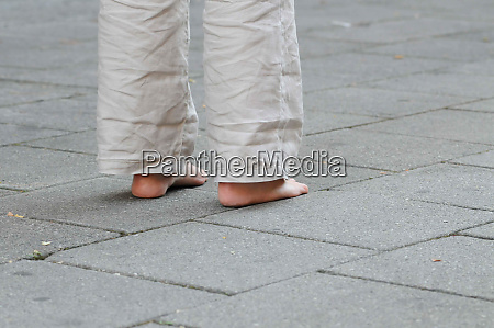 barefoot without any footwear