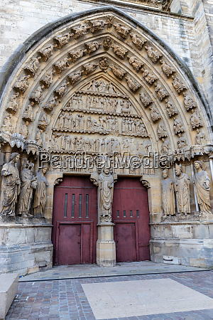 view at portal of cathedral notre