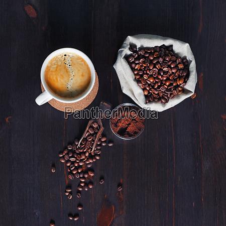 brewing coffee still life