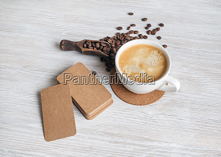business cards coffee
