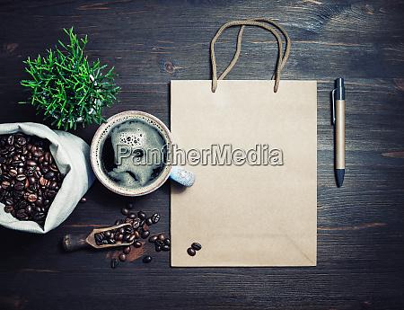 kraft bag coffee