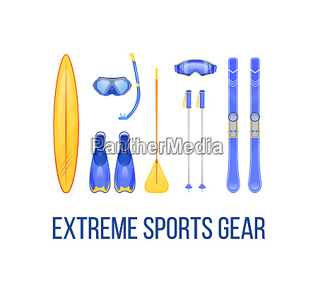 summer and winter sports equipment social