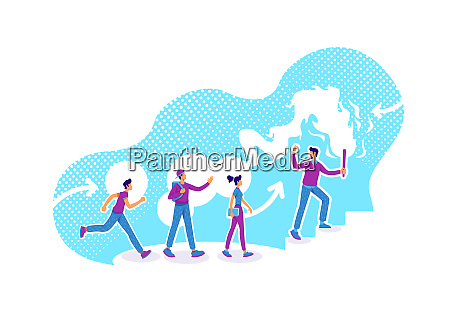 career guidance flat concept vector illustration