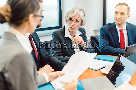 experienced attorney with her team of