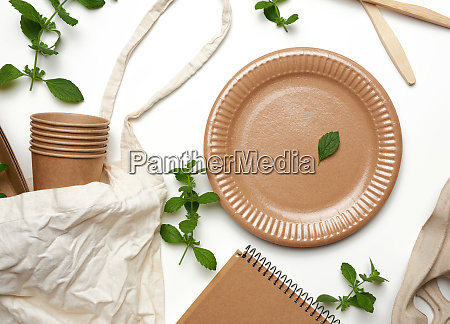 textile bag and disposable tableware from