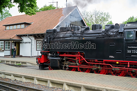 locomotive and carriages of the brockenbahn