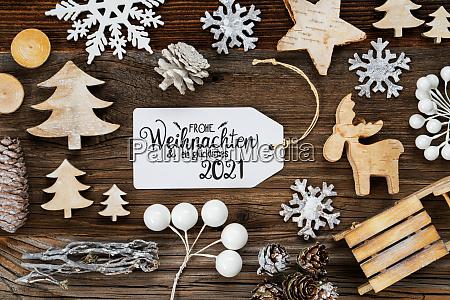 one label frame decoration glueckliches 2021