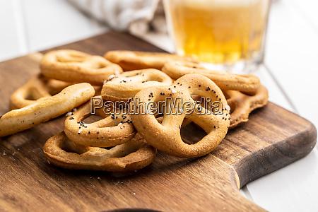 crispy salted pretzels