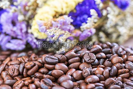 roasted coffee beans heap