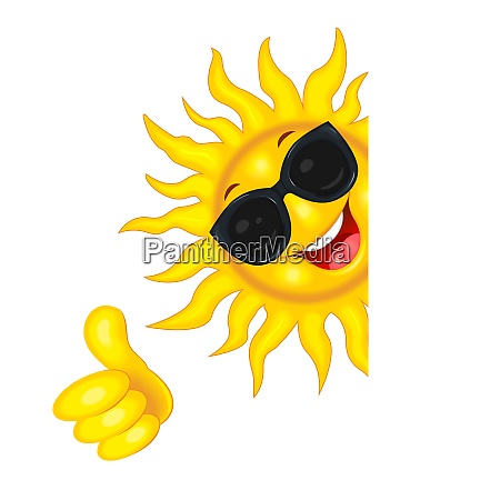 the sun in sunglasses wishes good