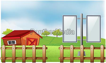 mock up illustration of bill board