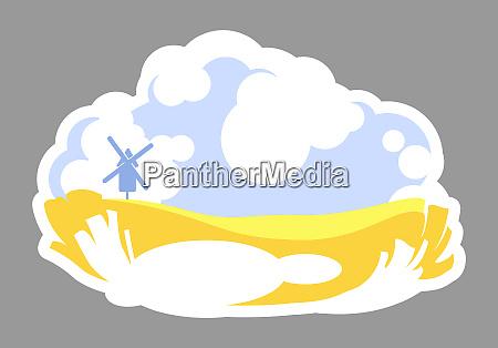farmland 2d vector web banner poster