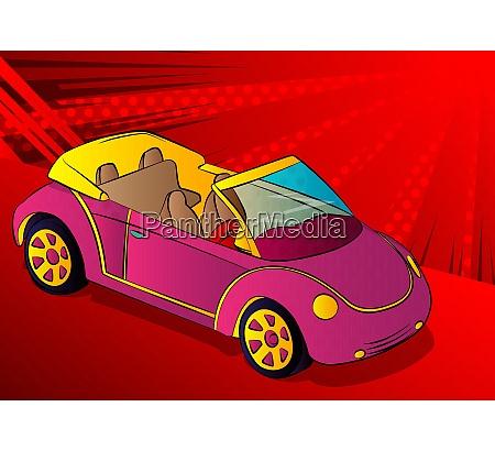 illustration of a cool cabriolet car