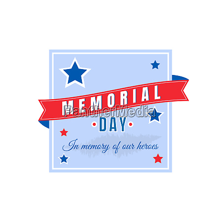 war memorial day flat color vector