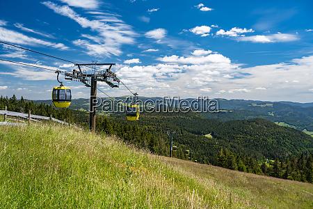 beautiful view from the mountain belchen