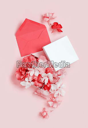 red envelope and gift box full