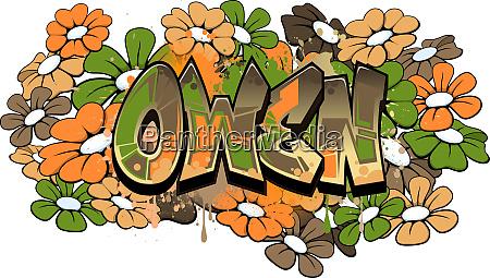 owen graffiti text logotype design
