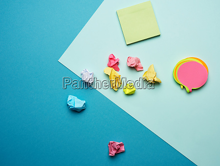 multicolored blank paper stickers of different