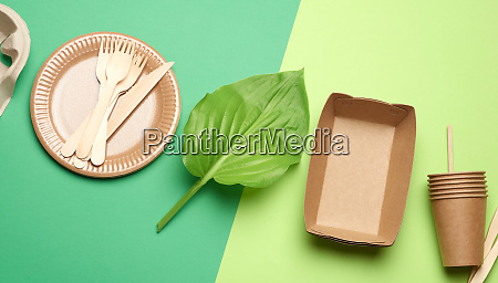 disposable paper utensils from brown craft