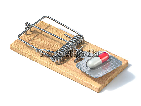 pill in mousetrap 3d