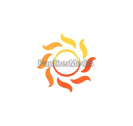 sun ilustration logo vector icon