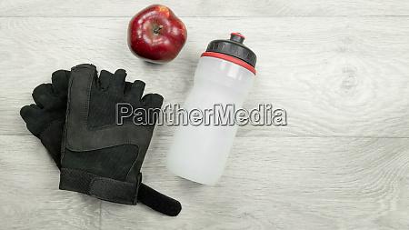 fitness flat lay