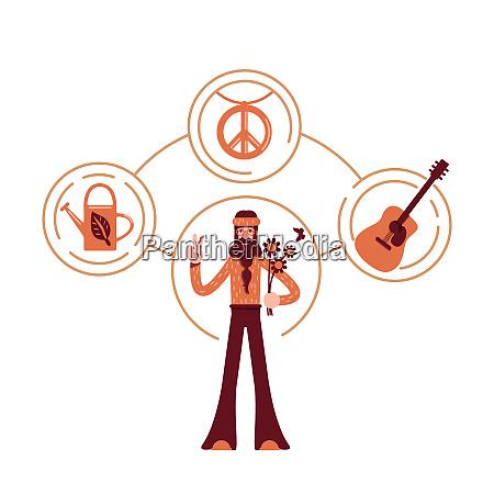 innocent archetype flat concept vector illustration