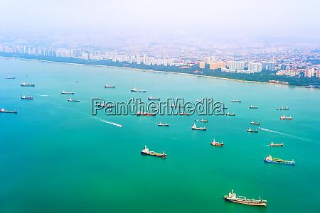 cargo ships commercial port singapore