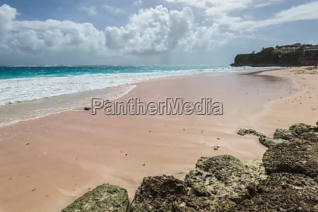 crane beach in barbados caribbean