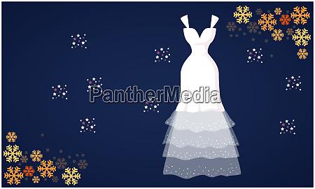 mock up illustration of fashion dress