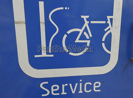 bicycle self service station sign