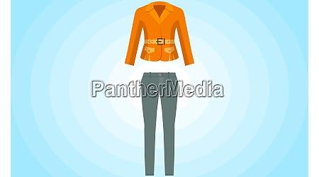 mock up illustration of office uniform
