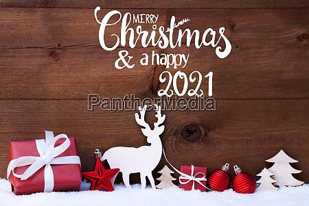 reindeer gift tree ball snow merry