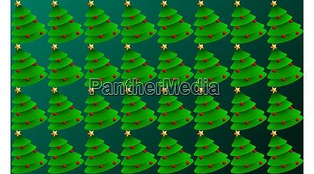 digital textile design of christmas tree