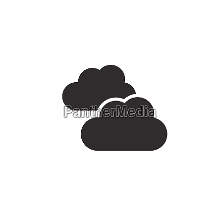 clouds overcast icon weather glyph vector