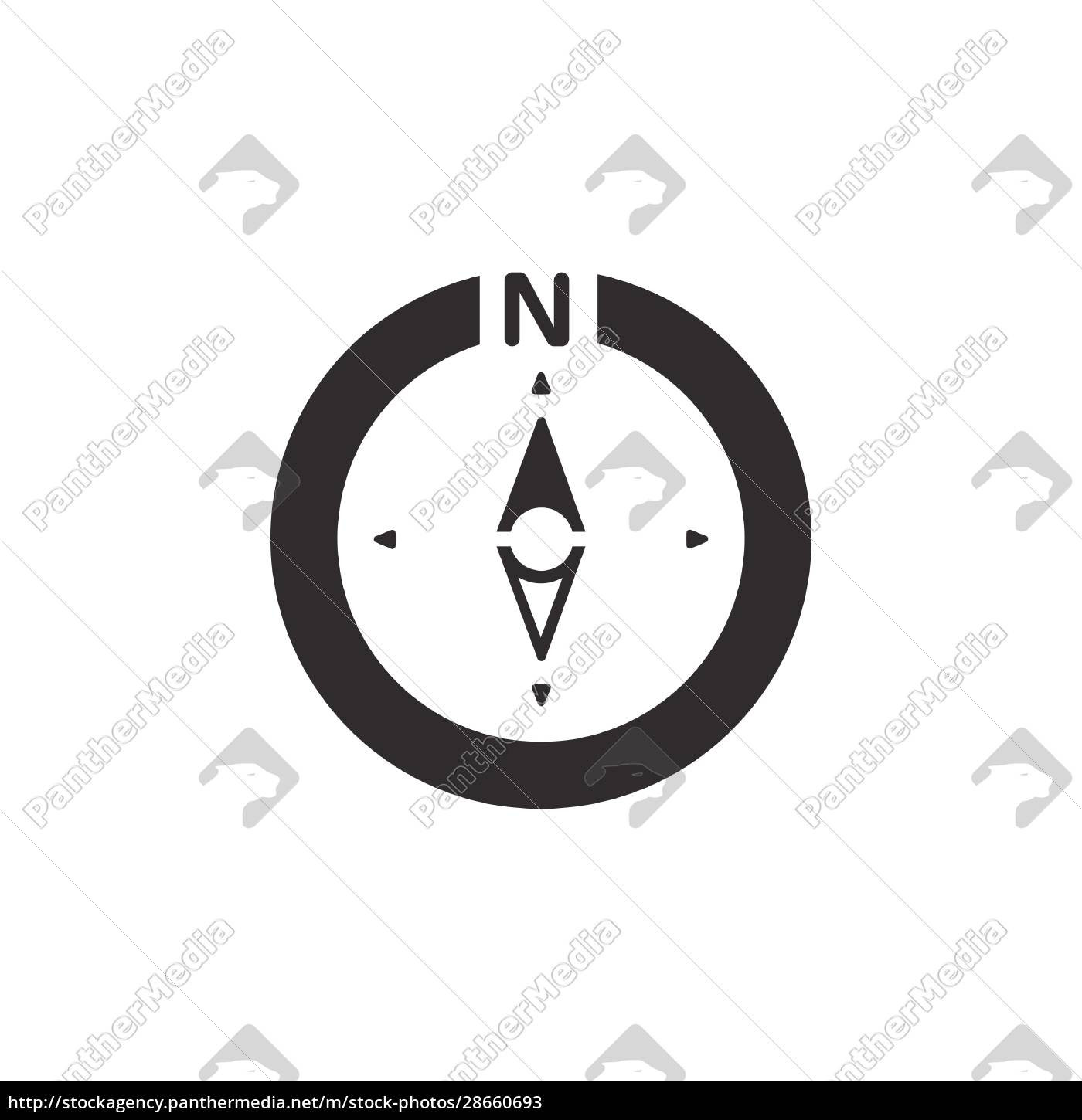 compass., north, direction., icon., weather, glyph - 28660693