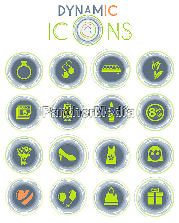 8 march dynamic icons