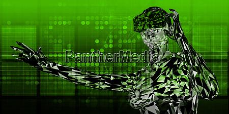 futuristic virtual reality background