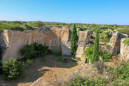 lithica stone quarry on balearic islands