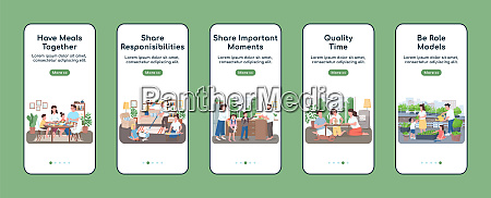 family routine onboarding mobile app screen