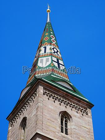 wolframs eschenbach liebfrauenmuenster church helmet pointed