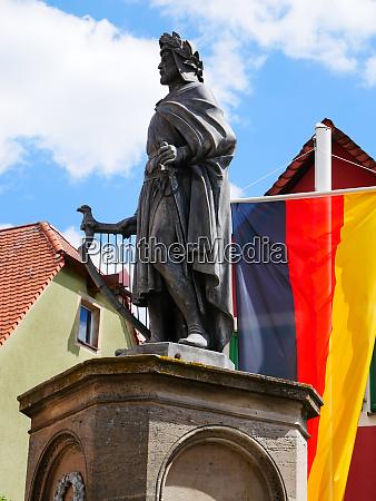 monument of wolfram von eschenbach in