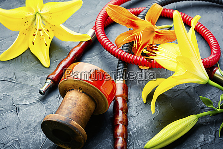 hookah with flower aroma